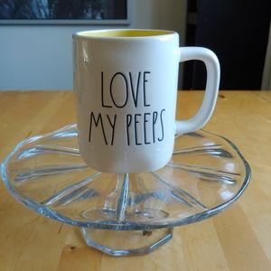 """Rae Dunn 🐥 """"Love My Peeps"""" Mug Yellow Easter Mug"""